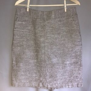 Merona linen/cotton pencil skirt w/ pockets